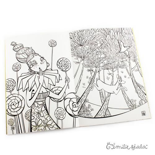 Emilie Fiala cahier de coloriages intérieur