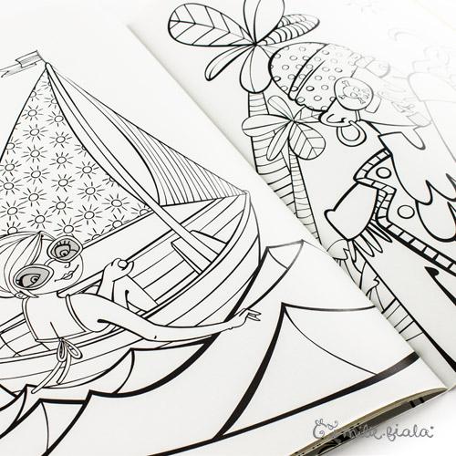 Emilie Fiala cahier de coloriages page
