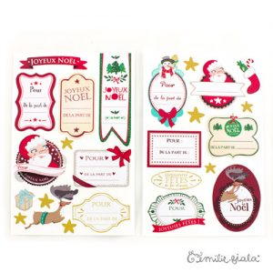 Étiquettes de Noël recto-verso Emilie Fiala