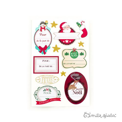 Étiquettes de Noël verso Emilie Fiala