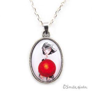 Grand collier simple Art For Japan argenté zoom Emilie Fiala