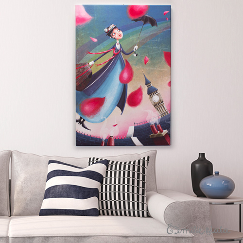 Grand tableau Mary Poppins simulation Emilie Fiala