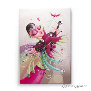 Grand tableau d'artiste L'Envol Emilie Fiala