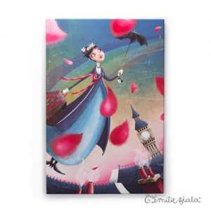 Grand tableau d'artiste Mary Poppins Emilie Fiala