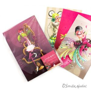 Lot de cartes postales ouvert Emilie Fiala