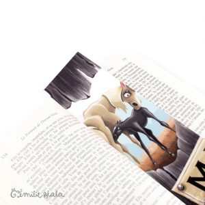 Marque-pages Mado et Junior profil Emilie Fiala