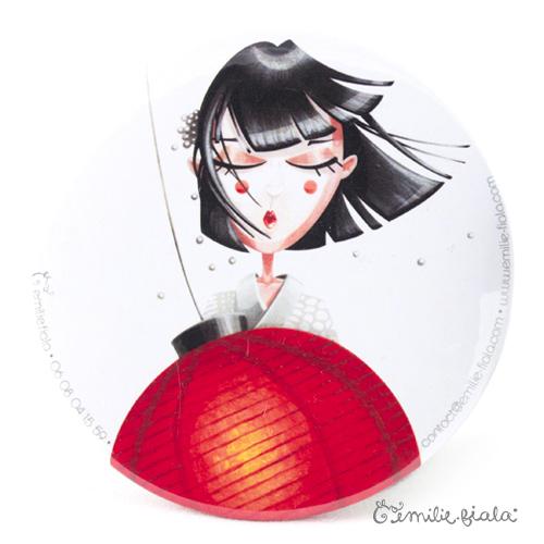 Miroir de poche Art for Japan recto Emilie Fiala