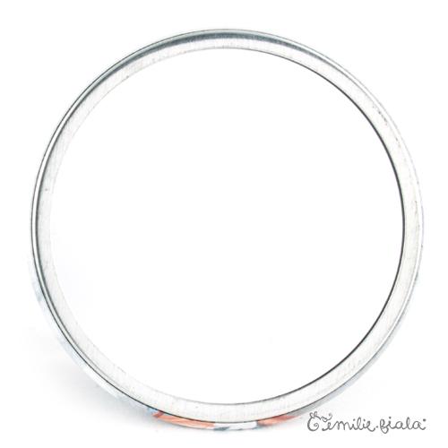 Miroir de poche La Farandole verso Emilie Fiala