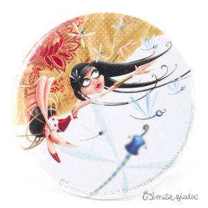 Miroir de poche La Trapéziste recto Emilie Fiala