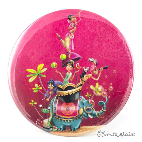 Miroir de poche Sur la Route des Indes recto Emilie Fiala