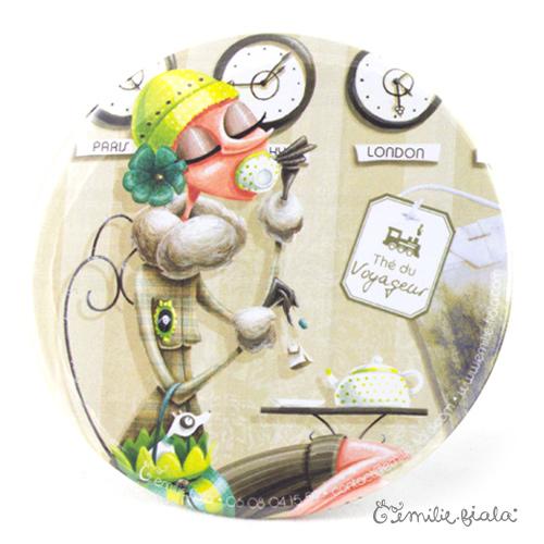 Miroir de poche Tea Time recto Emilie Fiala