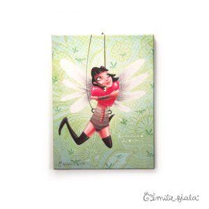 Petit tableau d'artiste Battement de Coeur Emilie Fiala