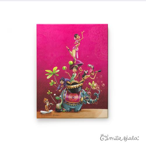 Petit tableau d'artiste Sur la Route des Indes Emilie Fiala