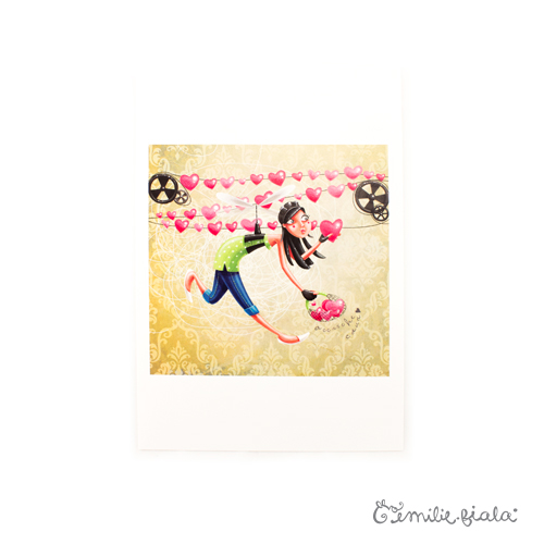 Tirage d'art L'Accroche-Coeurs face Emilie Fiala