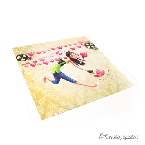 Tirage d'art L'Accroche-Coeurs profil Emilie Fiala