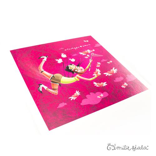 Tirage d'art L'Attrape-Coeurs profil Emilie Fiala