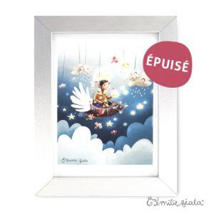 Tirage d'art Le Pêcheur d'Étoiles encadre Emilie Fiala-Epuise