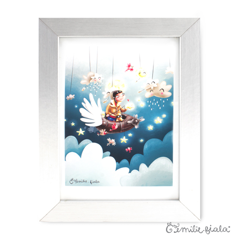 Tirage d'art Le Pêcheur d'Étoiles encadre Emilie Fiala