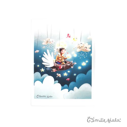 Tirage d'art Le Pêcheur d'Étoiles face Emilie Fiala