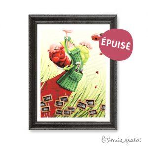Tirage d'art Le Potager encadre Emilie Fiala-Epuise