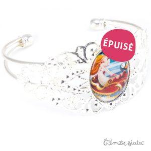 Bracelet fantaisie Jeanne argenté profil Emilie Fiala