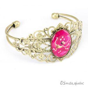 Bracelet fantaisie L'Attrape-Coeurs laiton profil Emilie Fiala