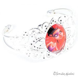 Bracelet fantaisie La Mystérieuse argenté profil Emilie Fiala
