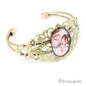 Bracelet fantaisie Le Bisou laiton profil Emilie Fiala