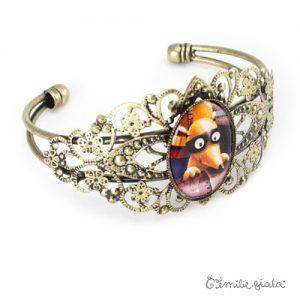 Bracelet fantaisie Le Coquin Masqué laiton profil Emilie Fiala