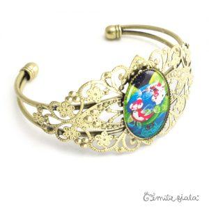 Bracelet fantaisie Les Carpes Koï laiton profil Emilie Fiala