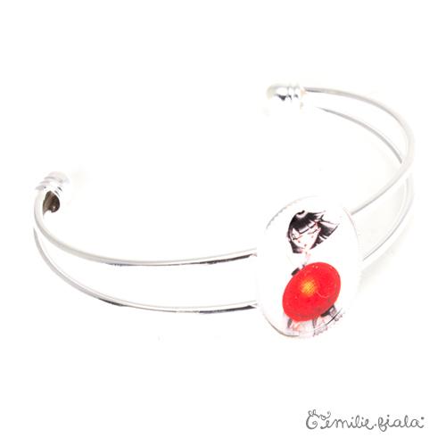 Bracelet simple Art For Japan argenté profil Emilie Fiala