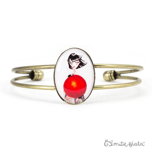 Bracelet simple Art For Japan laiton face Emilie Fiala