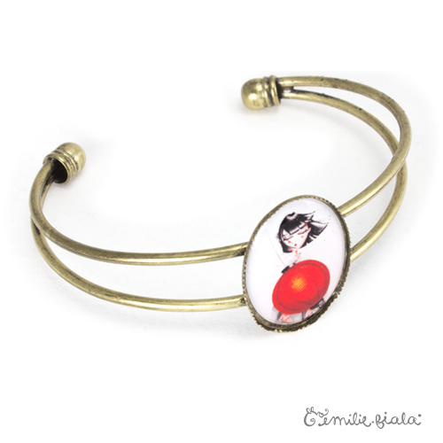 Bracelet simple Art For Japan laiton profil Emilie Fiala