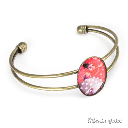 Bracelet simple Coeur Léger laiton profil Emilie Fiala