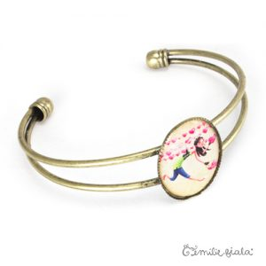 Bracelet simple L'Accroche-Coeurs laiton profil Emilie Fiala