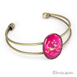 Bracelet simple L'Attrape-Coeurs laiton profil Emilie Fiala
