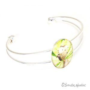 Bracelet simple La Chouette argenté profil Emilie Fiala
