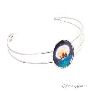 Bracelet simple La Jonque argenté profil Emilie Fiala