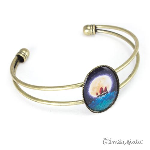 Bracelet simple La Jonque laiton profil Emilie Fiala