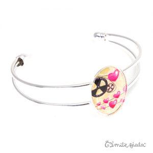 Bracelet simple La Mécanique du Coeur argenté profil Emilie Fiala