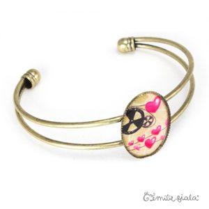 Bracelet simple La Mécanique du Coeur laiton profil Emilie Fiala