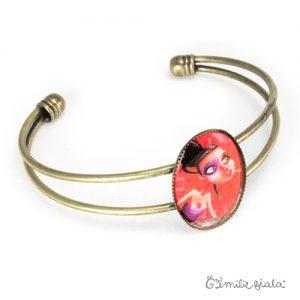 Bracelet simple La Mystérieuse laiton profil Emilie Fiala