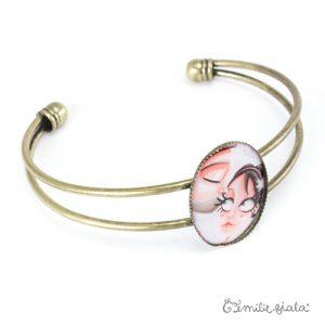 Bracelet simple Le Bisou laiton profil Emilie Fiala