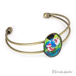 Bracelet simple Les Carpes Koï laiton profil Emilie Fiala