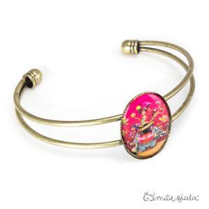 Bracelet simple Sur la Route des Indes laiton profil Emilie Fiala