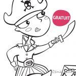 Coloriage A l'attaque Pirate Cadeau gratuit boutique Emilie Fiala