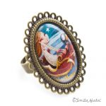Grande bague Jeanne bronze antique Profil Emilie Fiala