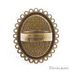 Grande bague bronze antique Dos Emilie Fiala