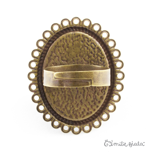 Grande bague bronze antique Dos Emilie Fiala