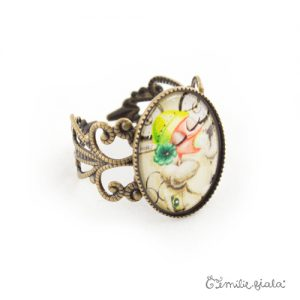 Petite bague Tea Time bronze antique profil Emilie Fiala